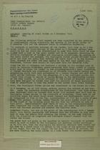 Memo re: Opening of Zonal Border on 9 November, 1949, November 16, 1949