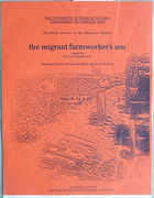 Flyer for The Migrant Farmworker's Son, by Silvia Gonzalez S at the University of Texas at El Paso.