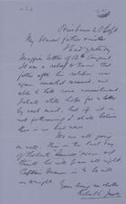 Letter from Robert Logan Jack to Robert and Maggie Jack, September 20, 1893
