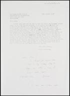 Letter from David Dalby to Jaap van Velsen, Dept. of Anthropology, University of Wales, 30 Oct. 1974
