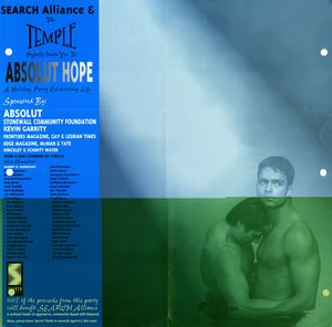 Absolut Hope Holiday Party Celebrating Life flier