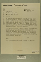 Telegram from Henry Cabot Lodge, Jr. in New York to Secretary of State, March 29, 1954
