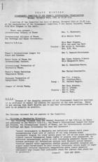 Draft Minutes of Disarmament Committee of Women's International Organisations, Monday, November 23, 1931 at 10:30 A.M.