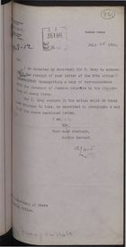Correspondence re: Liquidation of Enemy Firms, July 25-August 10, 1916