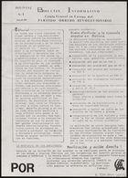 Boletín informativo / Célula Central en Europa del Partido Obrero Revolucionario. (b2963668)