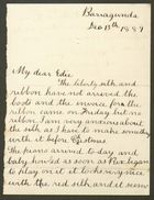 Letter from Ethel Anderson to Edith Thompson, December 13, 1889