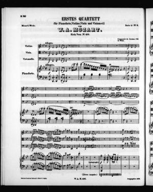 Erstes Quartett