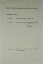 Ambassador and Mrs. Meyer's Social Calendar June 1, 1966