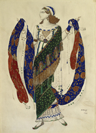 Costume design for a dancer from 'Cleopatra', 1910 (pencil, gouache & gold paint on paper)