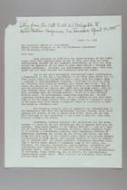 Letter from Carrie Chapman Catt to Arthur Vandenberg, April 23, 1945