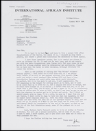 Letter from John Middleton to MG, 10 Sep. 1974