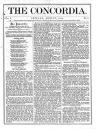 The Concordia, Vol. 1, no. 8, August, 1866