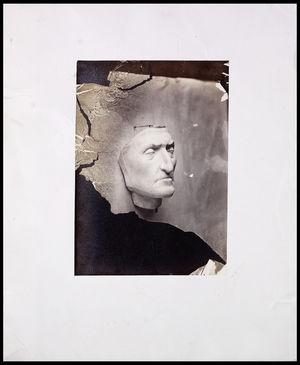 right 3/4 profile of Dante in plaster
