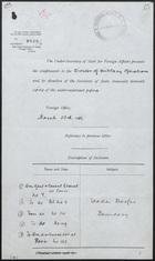 Correspondence Regarding Wadai-Darfur Boundary, February-March 1911