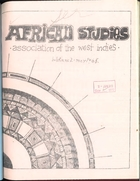 African Studies Association of the West Indies, Bulletin no. 2, May 1968