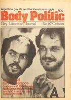 The Body Politic no. 27, October 1976
