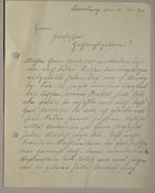Magnus Hirschfeld Scrapbook: Letter, Duisburg, Germany, December 9, 1926