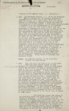 Lectures Given at the School of Oriental Languages - Language and Culture I, Oct. 10, 1935