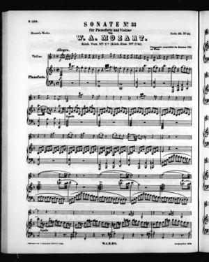 Sonate No. 33 für Pianoforte und Violine