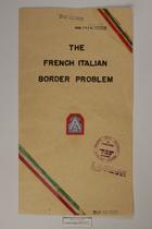 The French Italian Border Problem