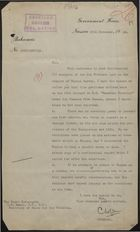 Memo from Governor C. W. J. Orr to L. S. Amery re: Deportation of Marcus Garvey, November 25, 1928
