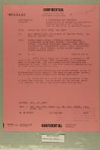 Confidential Message from USARMA Tel Aviv Israel, SGD Query, to ACSI DEPTAR Wash DC, AFOIN, & CNO, September 12, 1956