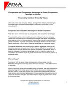 Comparative and Competitive Advantages in Global Competition Spotlight on InfoSys