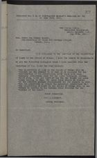 Copy of Letter from J. J. Morrow to Don Evenor Hazera, re: Acquisition of Land on Island of Tobago, May 25, 1920