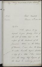 Copy of Letter from C. Mallet to Secretary of State for Foreign Affairs, November 17, 1885