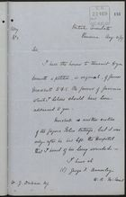 Memo from George F. Annesley to W. J. Dickson re: Gorgona Police Outrage, August 31, 1887
