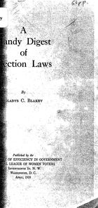 A Handy Digest of Election Laws