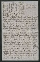 Letter from A.M. Howitt Watts to My dear Edith [Anderson], February 14, 1869