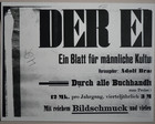 Magnus Hirschfeld Scrapbook: Der Eigene Ein Blatt fur mannliche Kultur Kunst und Litteratur