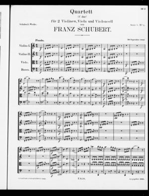 Quartett, D. 32, C Major