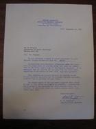 R.W. Dempster to Stanley Milgram, September 18, 1963