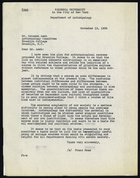 Copy of Letter from Franz Boas to Solomon Asch, November 13, 1939