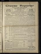 Cheese Reporter, Vol. 54, no. 3, Saturday, September 28, 1929