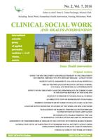 Clinical Social Work and Health Intervention, No. 2, Vol. 7, 2016, Clinical Social Work, No. 2, Vol. 7, 2016