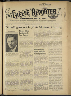 Cheese Reporter, Vol. 65, no. 35, Saturday, May 2, 1941
