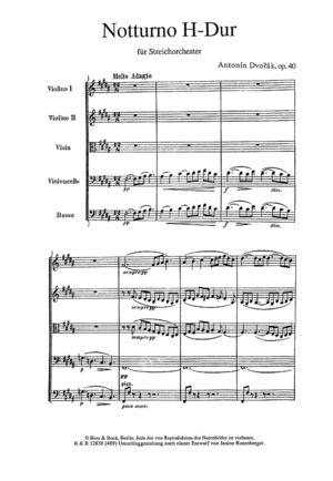 Notturno, Op. 40 / B 48a, B Flat Major