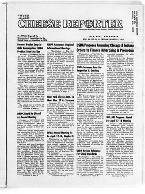 Cheese Reporter, Vol. 95, no. 29, Friday, March 3, 1972