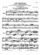 Acht Variationen über das Trio: 'Tändeln und Scherzen' aus der Oper: Soliman oder der drei Sultaninnen von Süssmayr