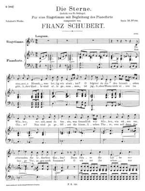 Die Sterne. Gedicht von Fr.Schlegel, D. 684, E Flat Major