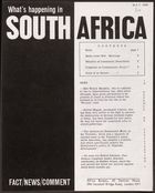 What's Happening In South Africa, May 1964 (Pg.Int.Ab.3.Iv)