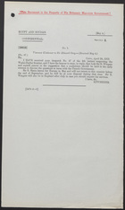 Letter from Viscount Kitchener to Sir Edward Grey, April 28, 1912