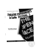 Playbill for Lazarus by Ping Chong, Open Space in Soho, New York, NY, November 8-December 17, 1978. Directed by Ping Chong.