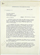 Letter from John M. Clark to John T. Lassiter re: Administration: Personnel, April 23, 1943
