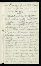 'Journey From St. Kilda to Ballaarat & Stay', 1881