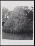 Conical grass hut 11 x 8 cm. D5022