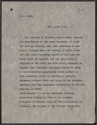 Letter from Director of Military Intelligence to Under Secretary of State for Foreign Affairs, April 27, 1918